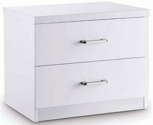 Astro White Gloss 2 Drawer Bedside